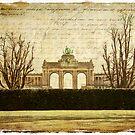 Parc Cinquantenaire Brussels Forgotten Postcard by Alison Cornford-Matheson