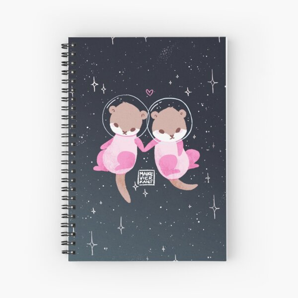 Space Otters Spiral Notebook