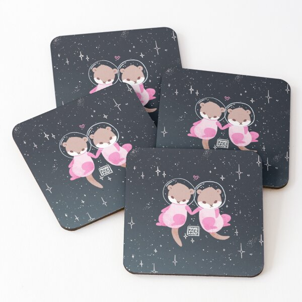 Space Otters Coasters (Set of 4)