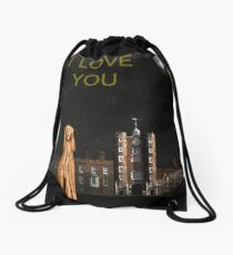 The Scream World Tour St James's Palace I Love You Drawstring Bag