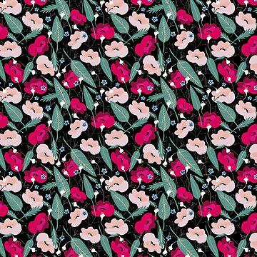 Pattern Botanico pink by anisg
