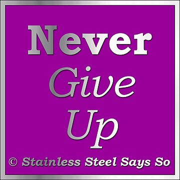 Never Give Up - Stainless Steel Says So by StainlessSteelS