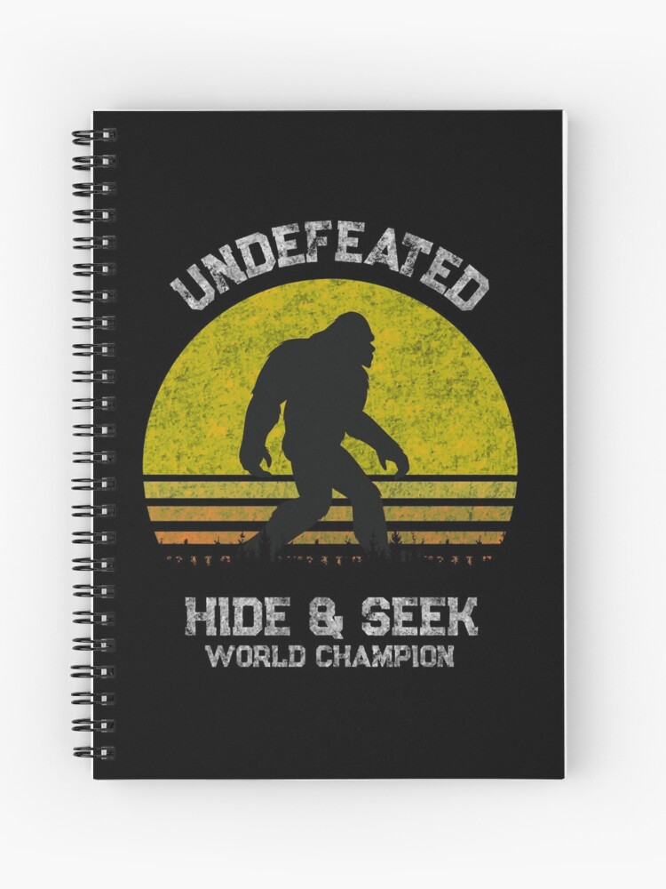 04447896 Funny Bigfoot T Shirt - Funny Sasquatch T Shirts - Hide & Seek World  Champion Shirt