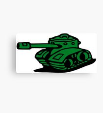 war battle tank army cartoon Canvas Print