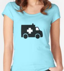 ambulance paramedic medic vehicle Women's Fitted Scoop T-Shirt