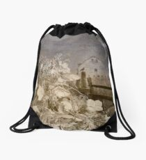 Hydrangea Hill Drawstring Bag