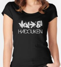 Hadouken Command White Women's Fitted Scoop T-Shirt