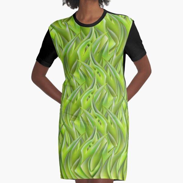 Grass Graphic T-Shirt Dress