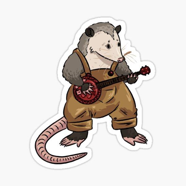 Banjo Opossum Sticker