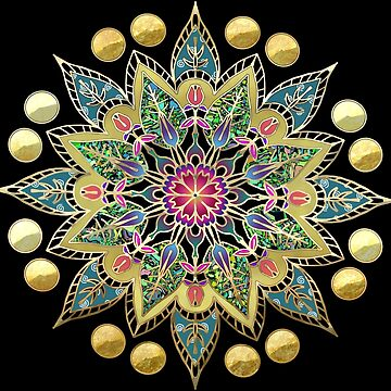 Golden Mandala - Cloisonne style by dollyllamax