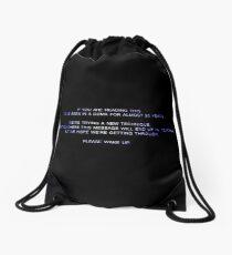 20 year coma Drawstring Bag