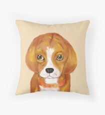 The Beagle Puppy, 20 in x 20 in, 2018 Throw Pillow