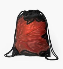 *•.¸♥♥¸.•*Leaf Inner Glow Proud To Be Canadian*•.¸♥♥¸.•* Drawstring Bag