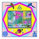 Asian Screen Mandala by Faith Dominoe
