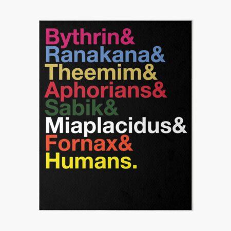 Intergalactic Species Names Art Board Print