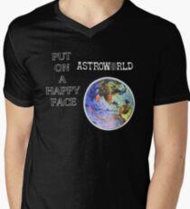 Astroworld Put On A Happy Face logo Men's V-Neck T-Shirt