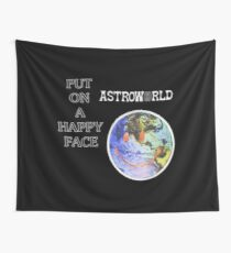 Astroworld Put On A Happy Face logo Wall Tapestry
