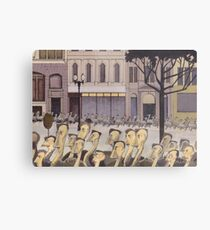 AR01-Emus homeward on Collins Street Metal Print