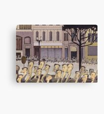 AR01-Emus homeward on Collins Street Canvas Print