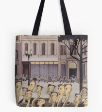 AR01-Emus homeward on Collins Street Tote Bag