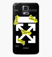 Off White Line Cross Case/Skin for Samsung Galaxy