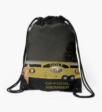 Golf world tour Scream, tour bus Drawstring Bag