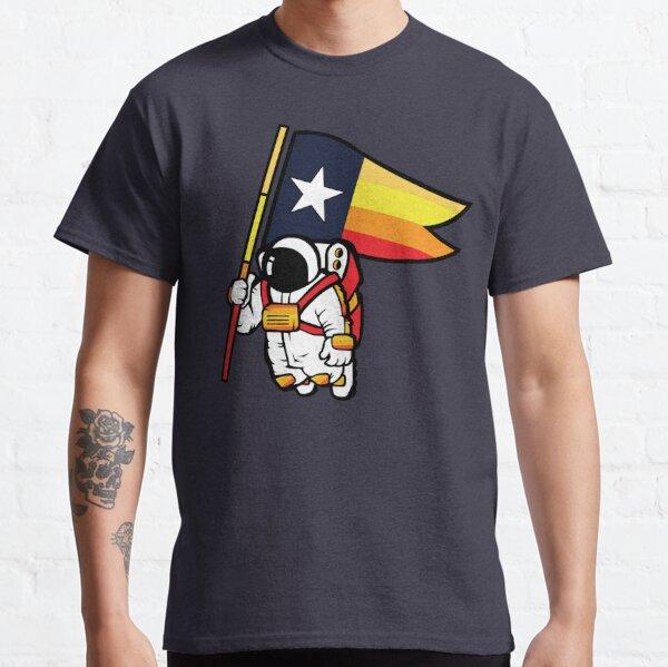 Houston Champ Texas Flag Astronaut Space City Classic T-Shirt