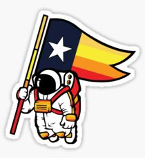 Houston Champ Texas Flag Astronaut Space City Sticker