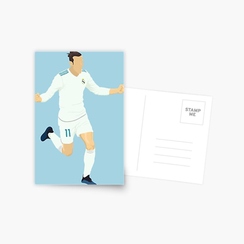 Gareth Bale No 11 Postcard By Dandobsondesign Redbubble