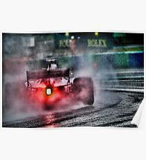 Formula 1 Ferrari rain race  Poster