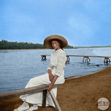 Grand Duchess Tatiana Nikolaevna of Russia in Finland - Colorized by Laurynsworld