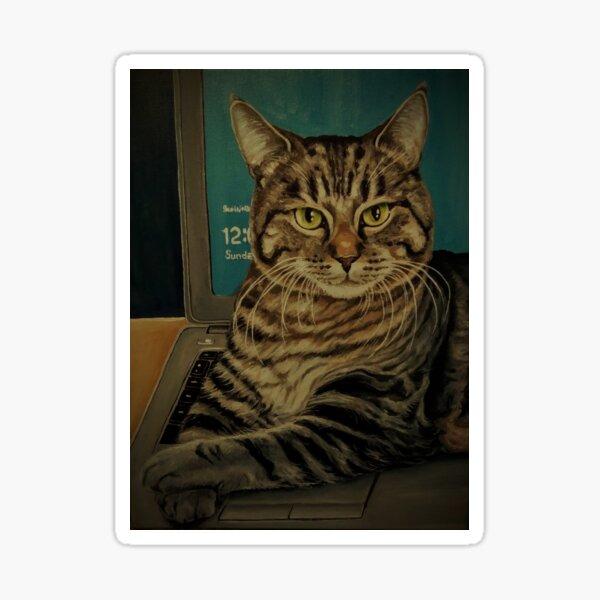 Cat Fix Your Computer? Sticker