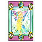 Garden Fairy Gardian in Stained Glass by Faith Dominoe