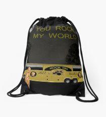 Scream Rock On Tour You Rock My World Drawstring Bag