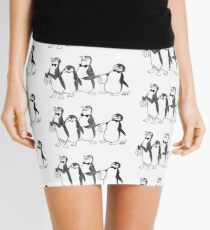Penguins From Mary Poppins Sketch Mini Skirt
