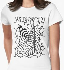 Abstract Intersection Women's Fitted T-Shirt