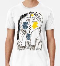 Pablo Picasso Kiss 1979 Kunstwerk Reproduktion für T-Shirt, gerahmte Drucke Premium T-Shirt
