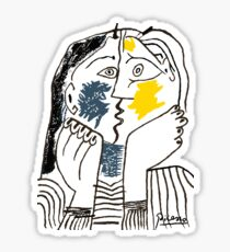 Pablo Picasso Kiss 1979 Artwork Reproduction For T Shirt, Framed Prints Sticker