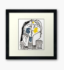 Pablo Picasso Kiss 1979 Artwork Reproduction For T Shirt, Framed Prints Framed Print