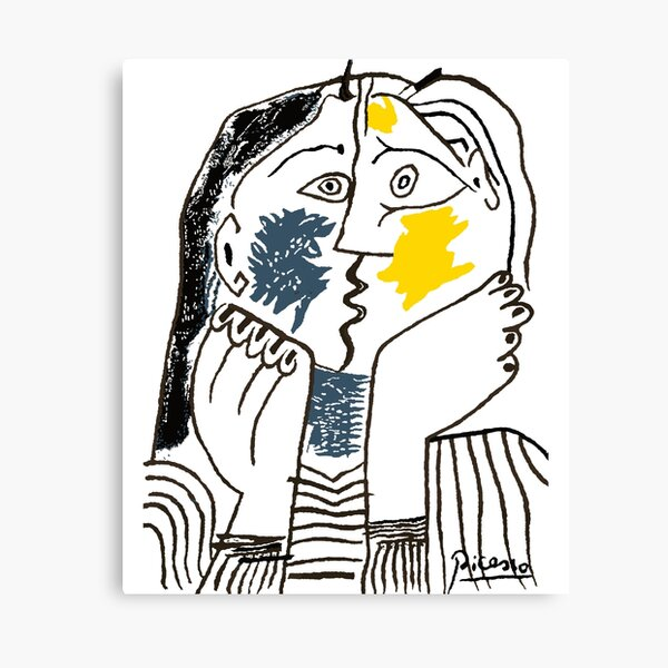 Pablo Picasso The Kiss 1979 Artwork Reproduction For T Shirt, Framed Prints Canvas Print