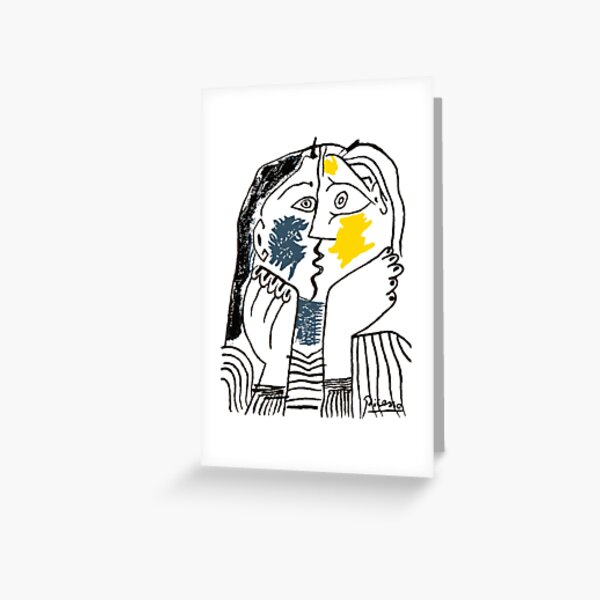 Pablo Picasso The Kiss 1979 Artwork Reproduction For T Shirt, Framed Prints Greeting Card