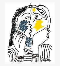 Pablo Picasso The Kiss 1979 Artwork Reproduction For T Shirt, Framed Prints Photographic Print