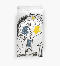 Pablo Picasso The Kiss 1979 Artwork Reproduction For T Shirt, Framed Prints Duvet Cover