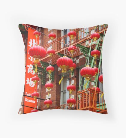 Cascade of Lanterns Throw Pillow