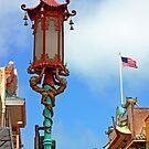 Chinatown Lampost by Tamara Valjean