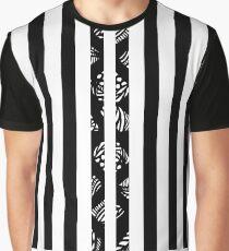 Streifen Grafik T-Shirt