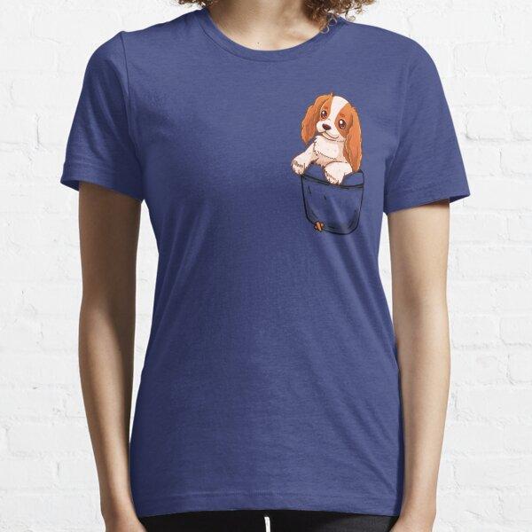 Pocket Cute Cavalier King Charles Spaniel Dog Essential T-Shirt