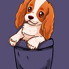 Pocket Cute Cavalier King Charles Spaniel Dog by TechraNova