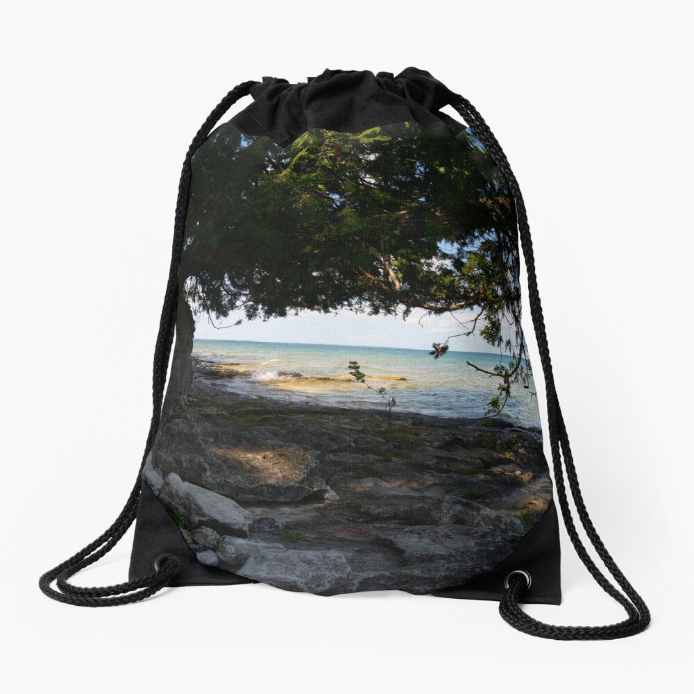 Shoreline Drawstring Bag Front