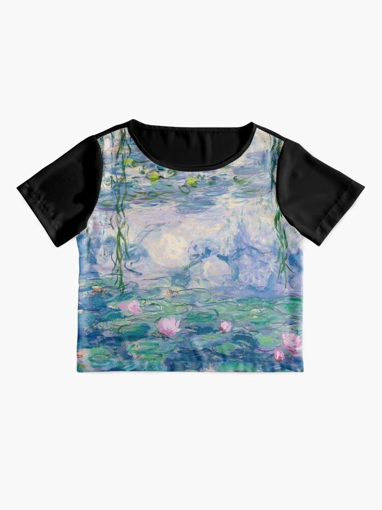 Alternate view of Water Lilies Claude Monet Fine Art Chiffon Top